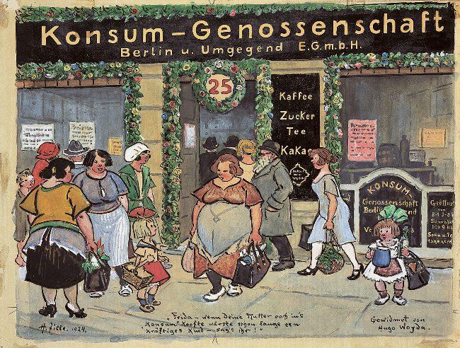 Konsum-Genossenschaft (Zille 1924)